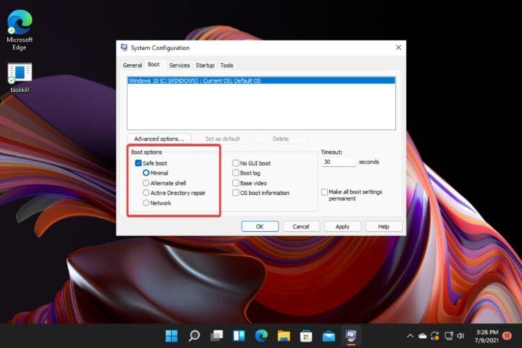 windows 11 modalita provvisoria 13