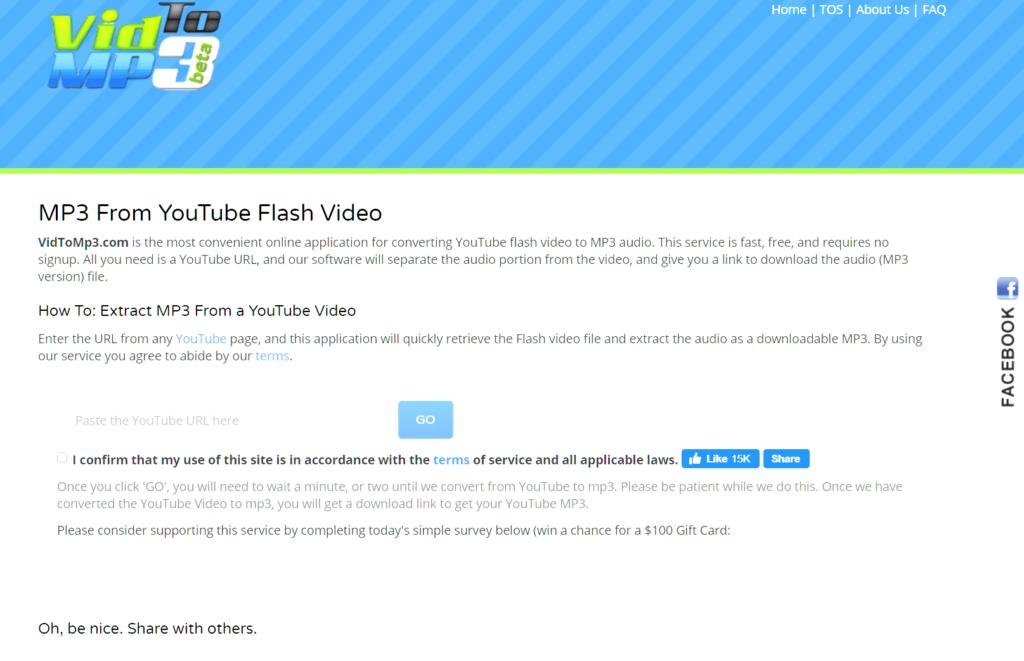 Come scaricare musica da YouTube VidToMp3